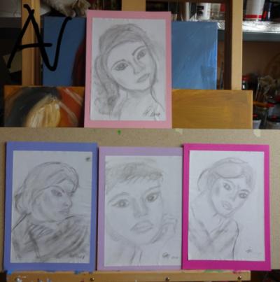 Porträt, eine Studie