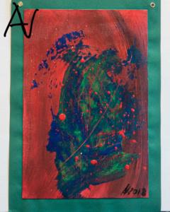 Profil eines Azteken, Abstract No. III