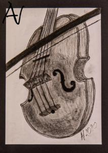 Die Geige Studie 01 von der Seite